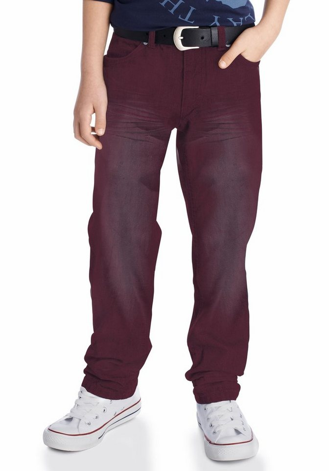 Arizona Regular-fit-Jeans mit geradem Bein in rot