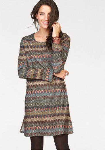 Tamaris Jerseykleid, im Ethno-Look
