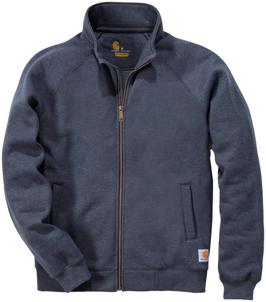 Sweatshirt »K350 Midweight Mock Neck Zip Front Sweatshirt« in dunkelgrau