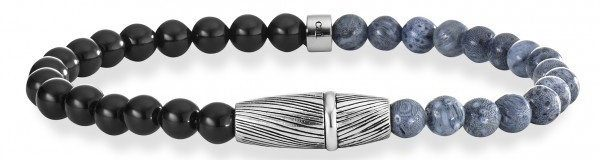 caï Men Armband mit Korallen und Onyx, »feather, C4200B/90/AK/21«