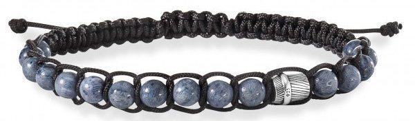 caï Men Armband mit Korallen, »feather, C4201B/90/AJ/21« in Silber 925-schwarz-grau