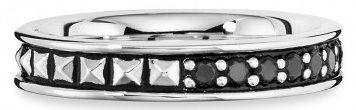 caï Men Ring mit Spinellen, »ROYAL PUNK, C4173R/90/L6/62« in Silber 925-schwarz
