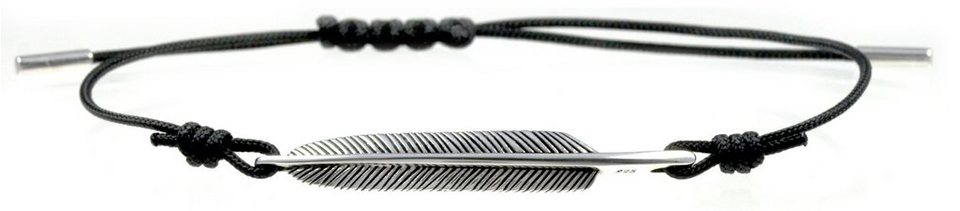 caï Men Armband, »feather, C4198B/90/00/21« in Silber 925-schwarz