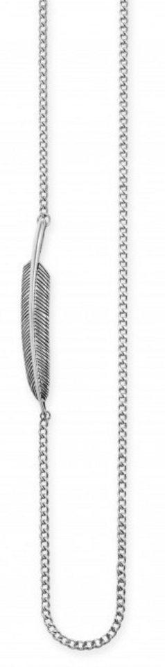 caï Men Kette mit Anhänger, »feather, C4199N/90/00/55« in Silber 925-schwarz