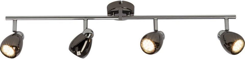 Brilliant Leuchten LED Deckenleuchte, 4flg., »Milano« in chromfb./schwarz