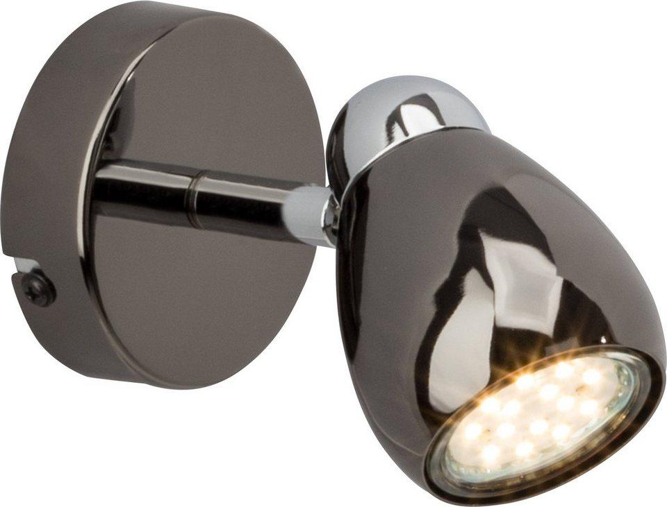 Brilliant Leuchten LED Wandleuchte, 1flg., »Milano« in chromfb./schwarz