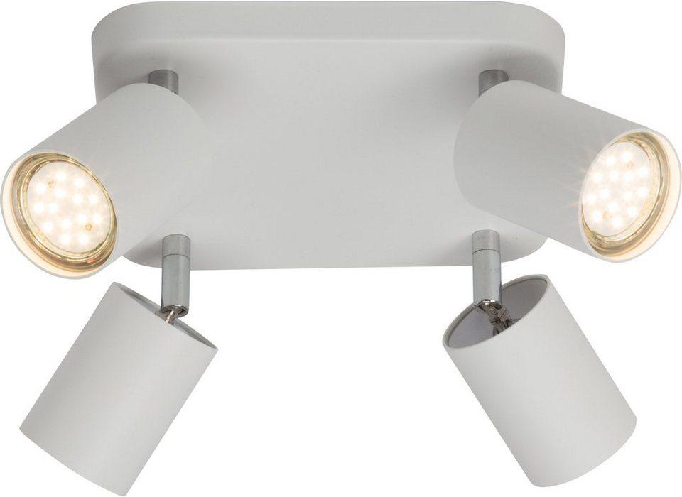 Brilliant Leuchten Deckenleuchte, 4flg., »DIFFERENT« in weiß