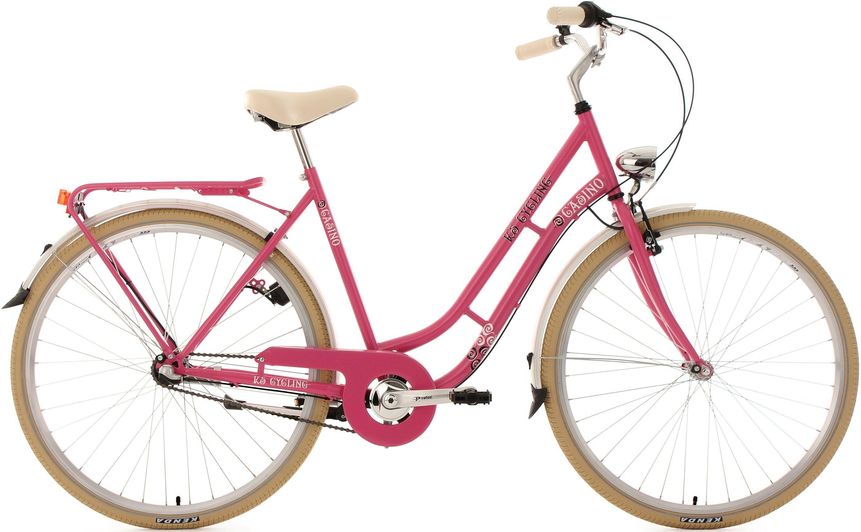 KS Cycling Damen-Cityrad, 28 Zoll, 3 Gang Shimano Nexus Nabenschaltung, »Casino«