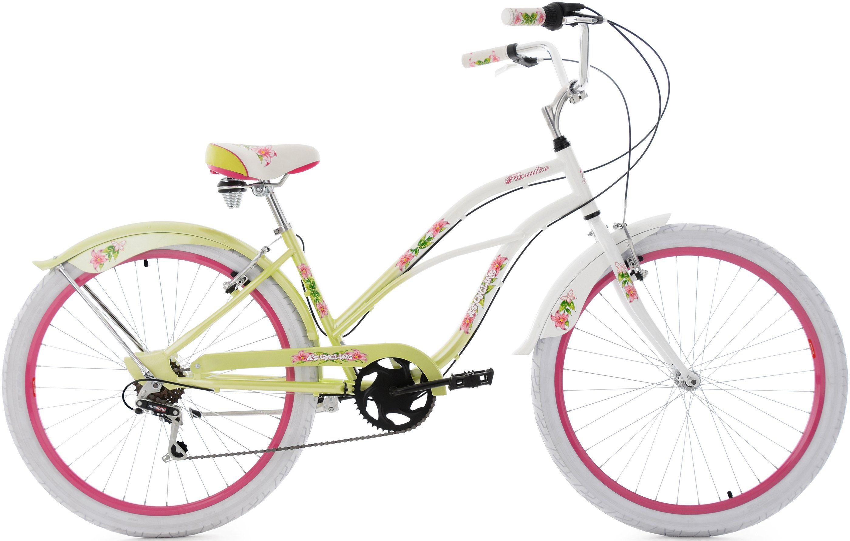 KS Cycling Beachcruiser, 26 Zoll, 6 Gang Shimano Kettenschaltung, Damen, »Paradiso«