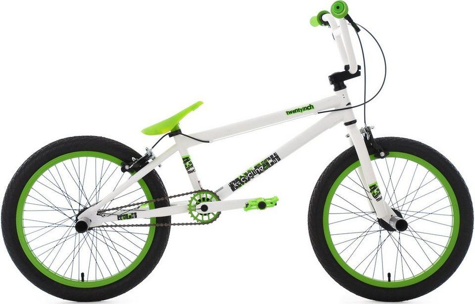 KS Cycling BMX Fahrrad, 20 Zoll, »Twentyinch« in weiß-grün
