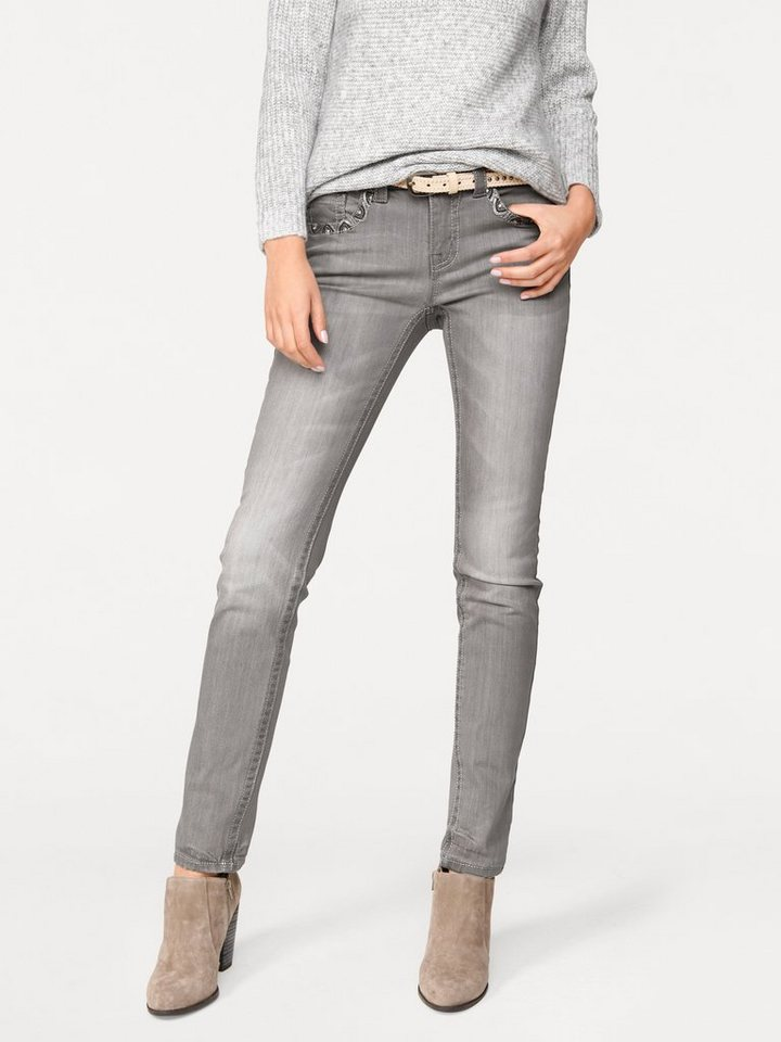Skinny-Jeans in silbergrau