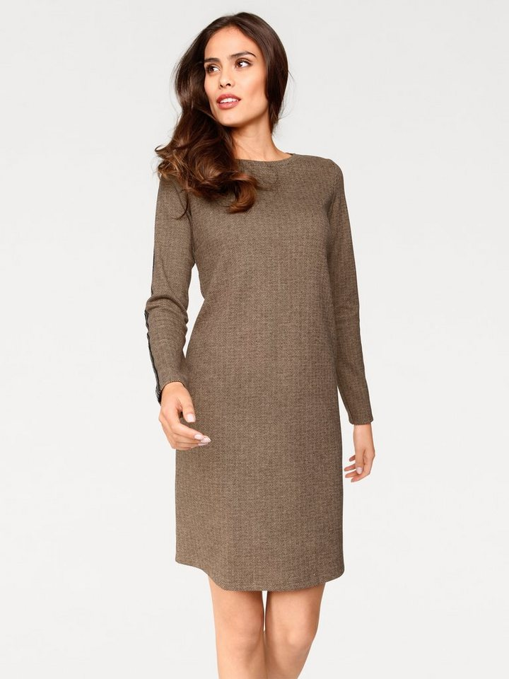 Jerseykleid in taupe