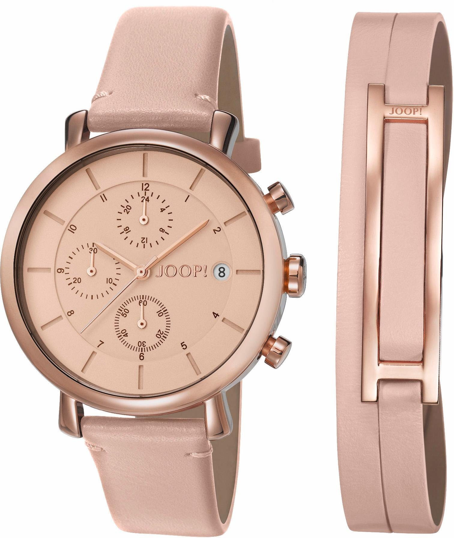 Joop! Chronograph »JP101772011« mit Wechselband (Set, 2 tlg.)