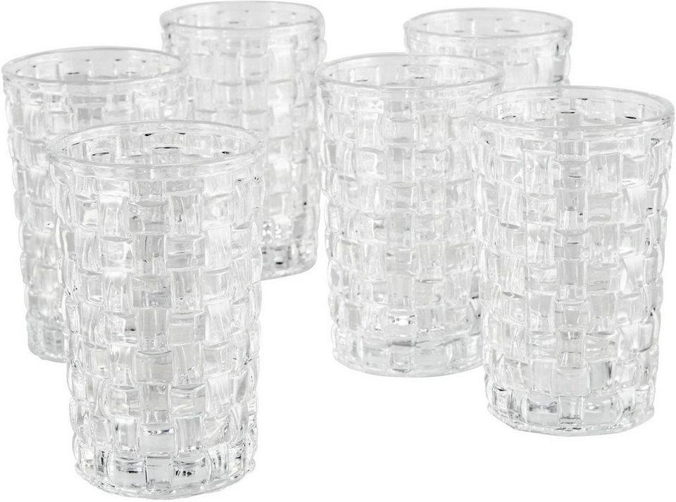 Mailord Gläser-Set, 6-teilig, »Woven« in klar