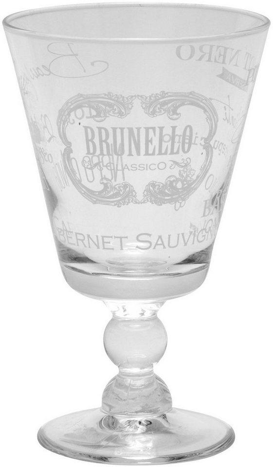 Mailord Set: Rotweinglas, 6-teilig in klar