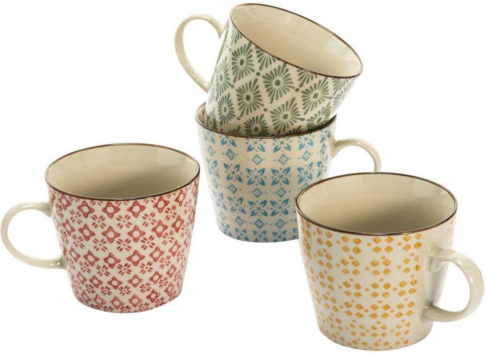 Mailord Keramik-Becher-Set, 4-tlg. in bunt
