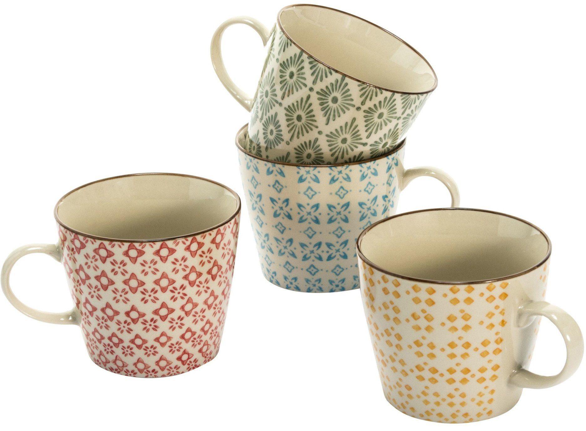 Mailord Keramik-Becher-Set, 4-tlg.