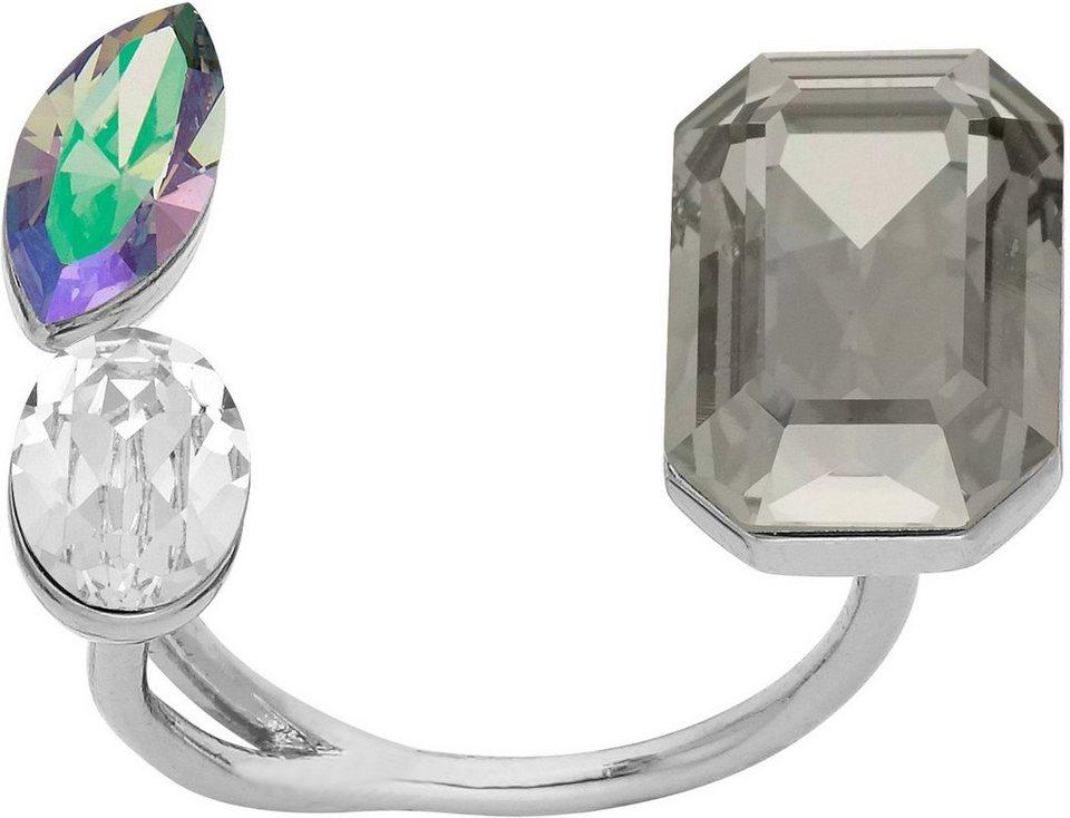 lolaandgrace Ring mit Swarovski® Kristallen, »GLAM U-RING, 5251738, -39, -40« in silberfarben-mehrfarbig