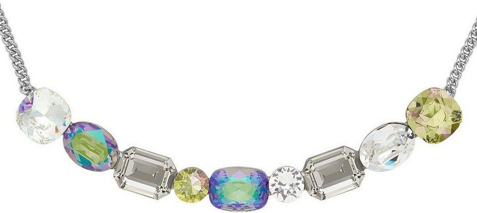 lolaandgrace Kette mit Swarovski® Kristallen, »GLAM COLLIER, 5251729« in silberfarben-mehrfarbig