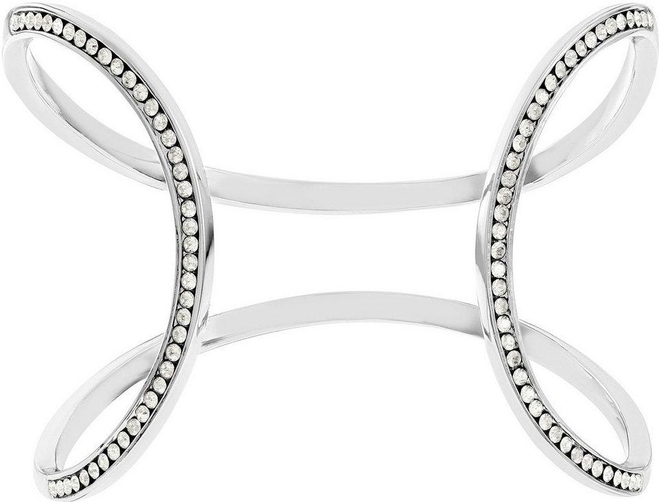 lolaandgrace Armspange mit Swarovski® Kristallen, »MILAN OPEN CUFF, 5182880« in silberfarben