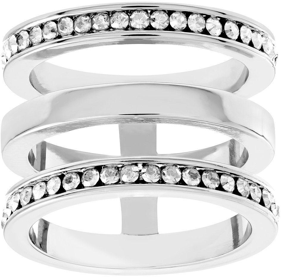 lolaandgrace Ring mit Swarovski® Kristallen, »MILAN RING, 5182881, -82, -83« in silberfarben