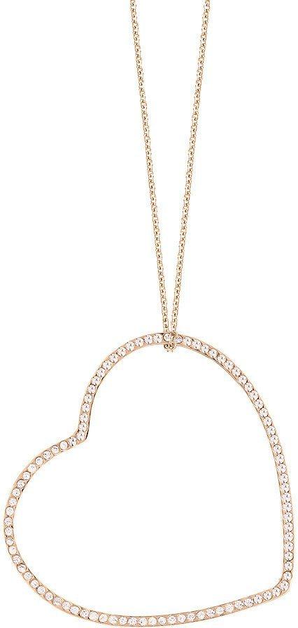 lolaandgrace Kette mit Anhänger mit Swarovski® Kristallen, »Herz, VENICE LONG PEDANT, 5200589« in roségoldfarben