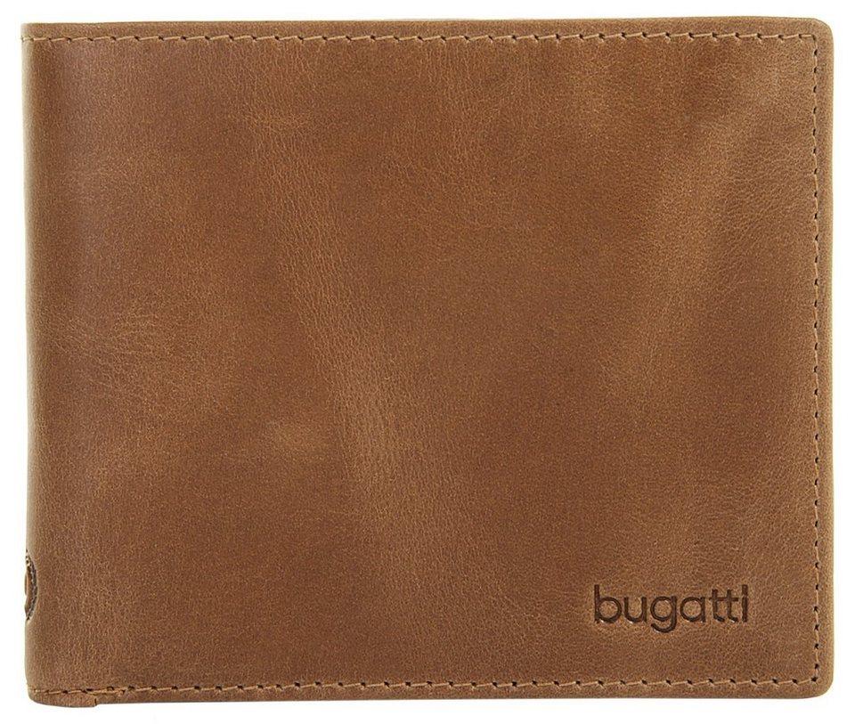 Bugatti Herren Leder Geldbörse »Volo« in cognac