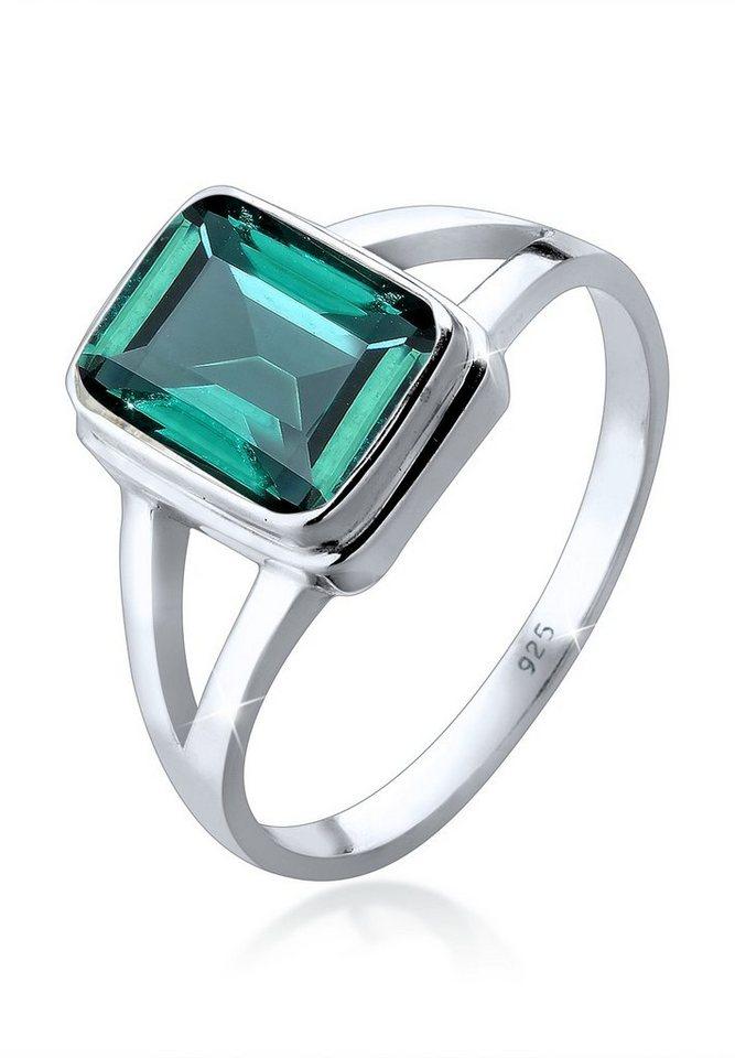Elli Ring »Solitär Quarz 925 Silber« in Grün