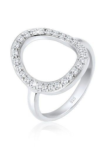Elli Ring »Oval Kreis Zirkonia 925 Silber«