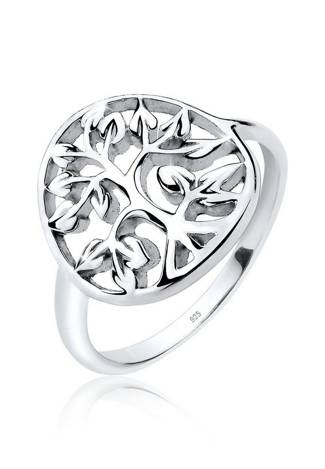 Elli Ring »Lebensbaum Floral 925 Silber« in Silber
