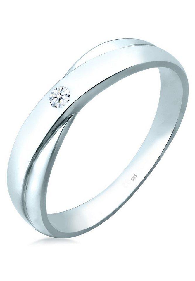 Elli Ring »Verlobung Diamant 585 Weißgold« in Weiß