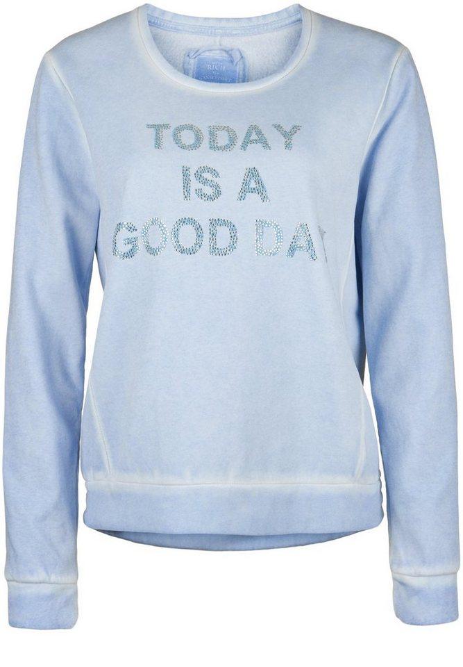 "Better Rich Sweatshirt »CREW ""TODAY""« in marina"