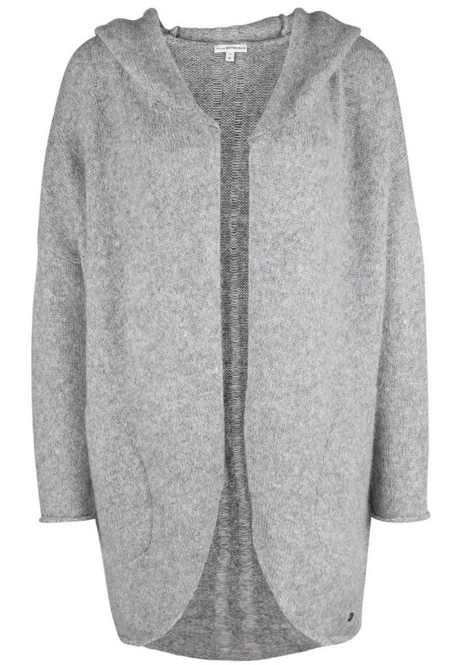 Better Rich Strickjacke »KAPUZENJACKE Oversize« in gray marl