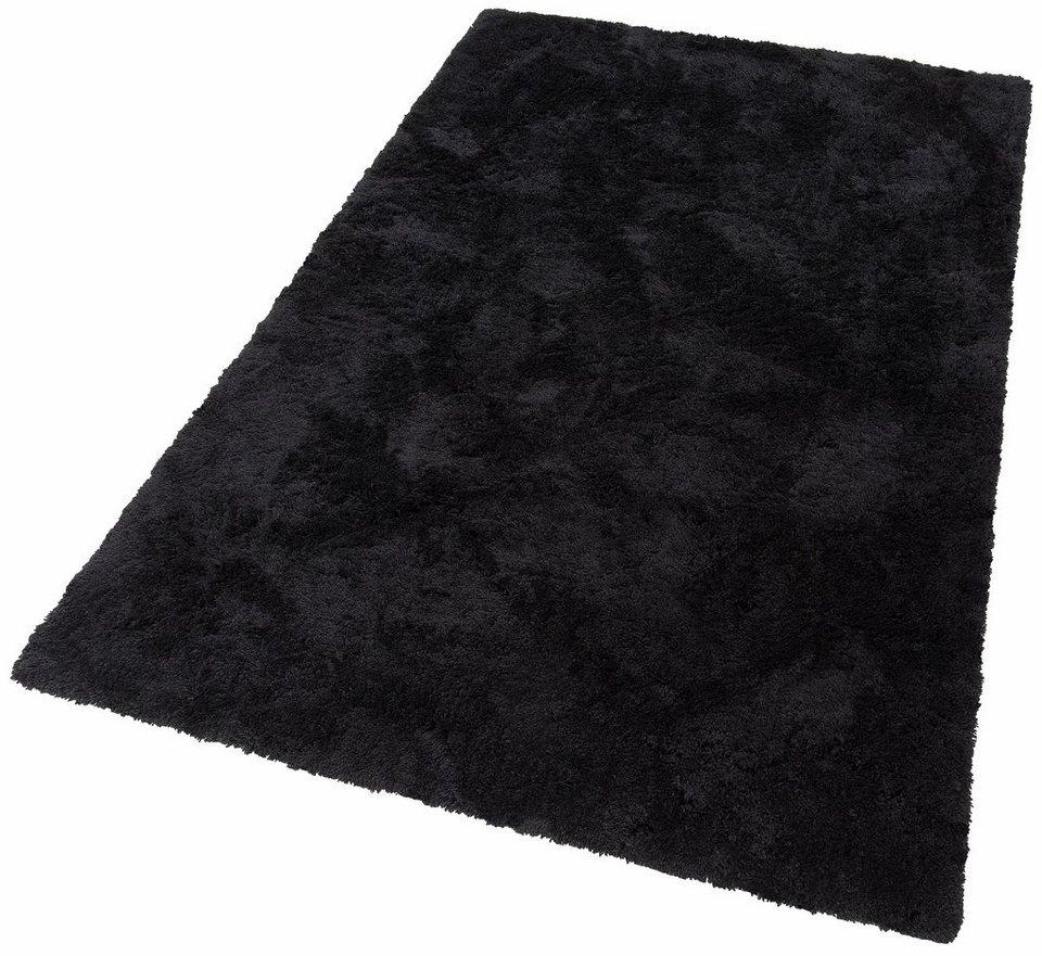 Hochflor-Teppich, my home Selection, »Desner«, Höhe 38 mm, handgetuftet in schwarz