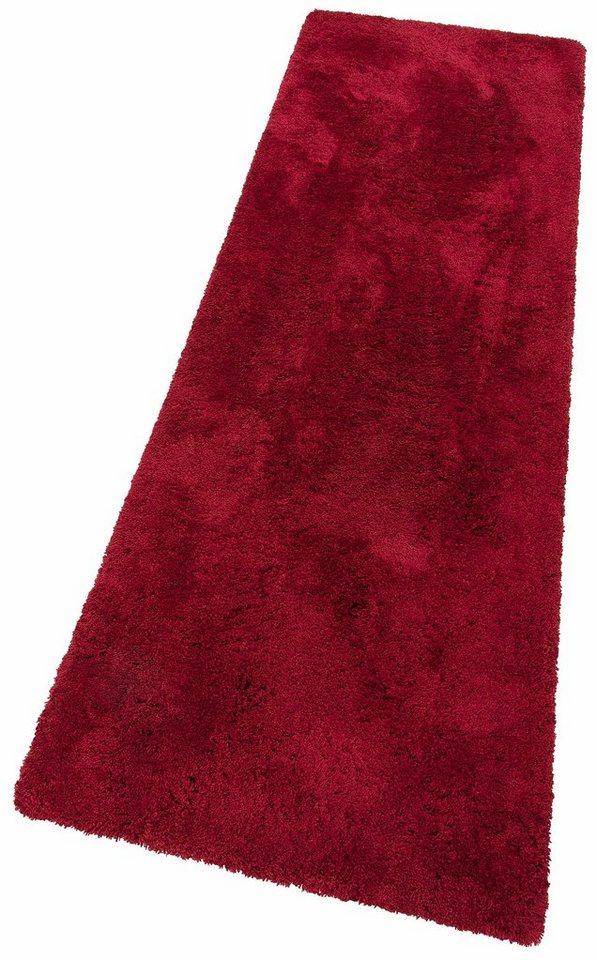 Hochflor-Läufer, my home Selection, »Desner«, Höhe 38 mm, handgetuftet in rot