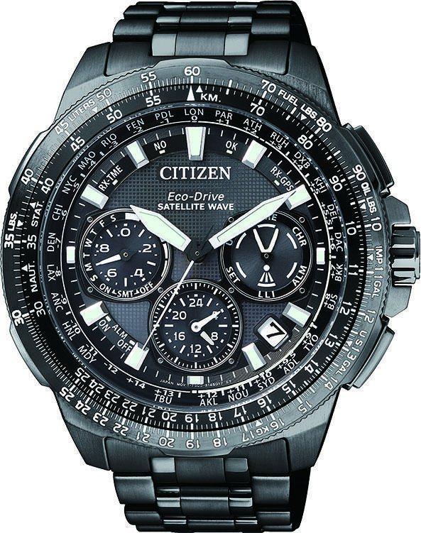 Citizen Funkchronograph »CC9025-51E« Mit Satellite Timekeeping System in schwarz