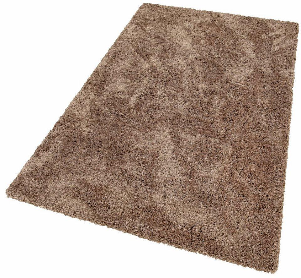 Hochflor-Teppich, my home Selection, »Desner«, Höhe 38 mm, maschinengetuftet in braun