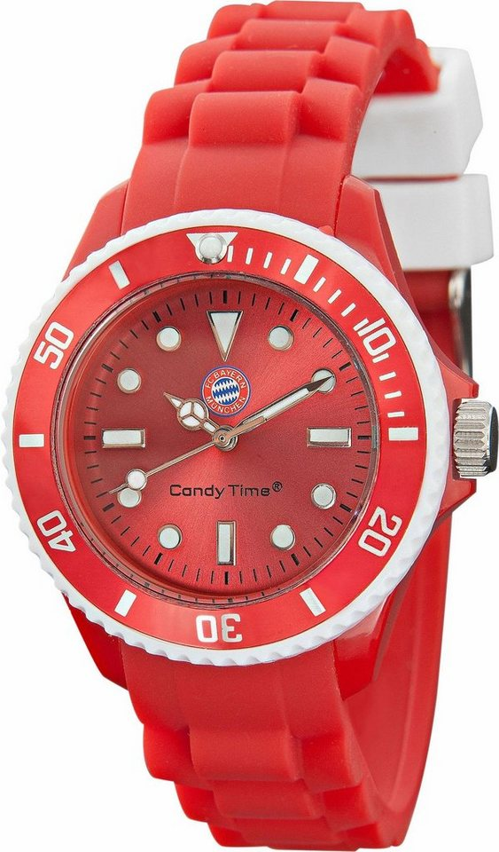 FC Bayern Quarzuhr »Candy Time, 15551« in rot