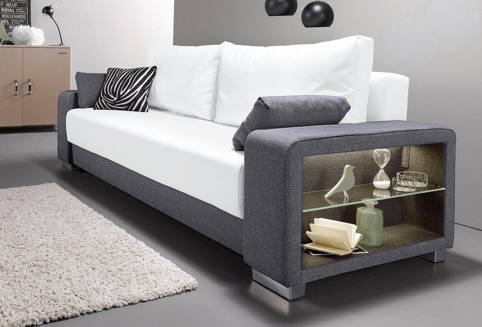 graue schlafcouch simple schlafcouch schwarz madlen. Black Bedroom Furniture Sets. Home Design Ideas