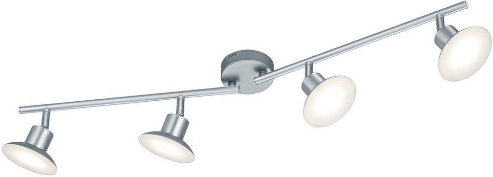 TRIO Leuchten LED Deckenleuchte, »DIJON« in silber- titanfarben