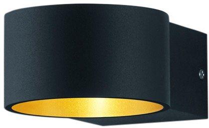 TRIO Leuchten LED-Wandleuchte, 1flg., »LACAPO« in schwarz, innen goldfarben