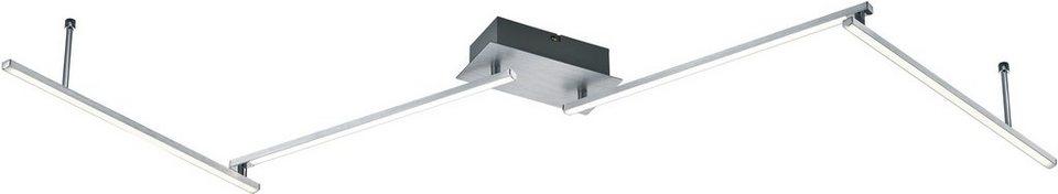 TRIO Leuchten LED Deckenleuchte, »HIGHWAY« in alufarben, weiß