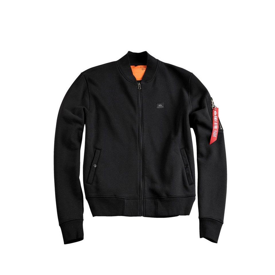ALPHA INDUSTRIES Jacke »X-Fit Sweat Jkt MA-1 Wmn« in black