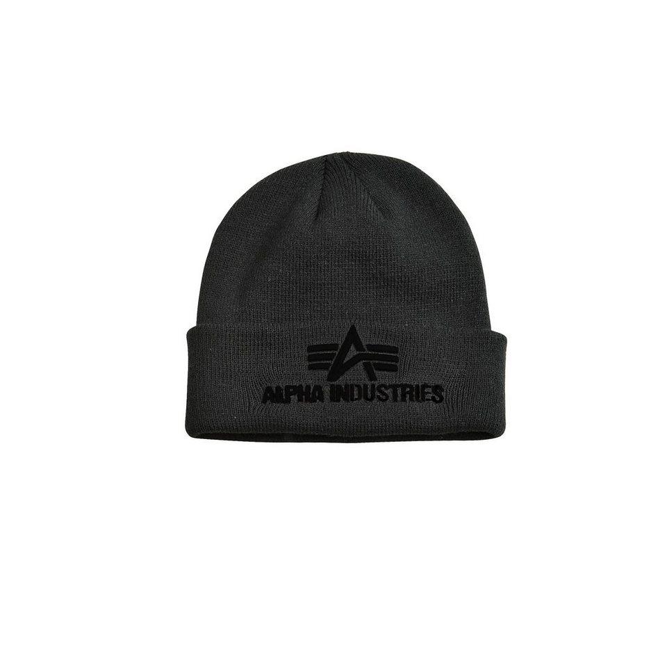 ALPHA INDUSTRIES Mütze »3D Beanie« in black