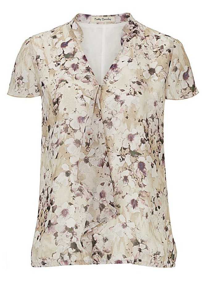 Betty Barclay Bluse in Camel/Rosé - Braun