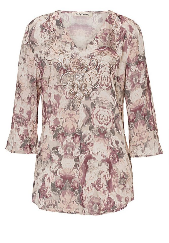Betty Barclay Bluse in Camel/Rosé - Bunt