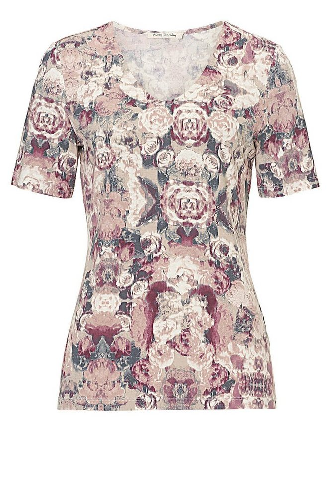 Betty Barclay Shirt in Camel/Rosé - Bunt
