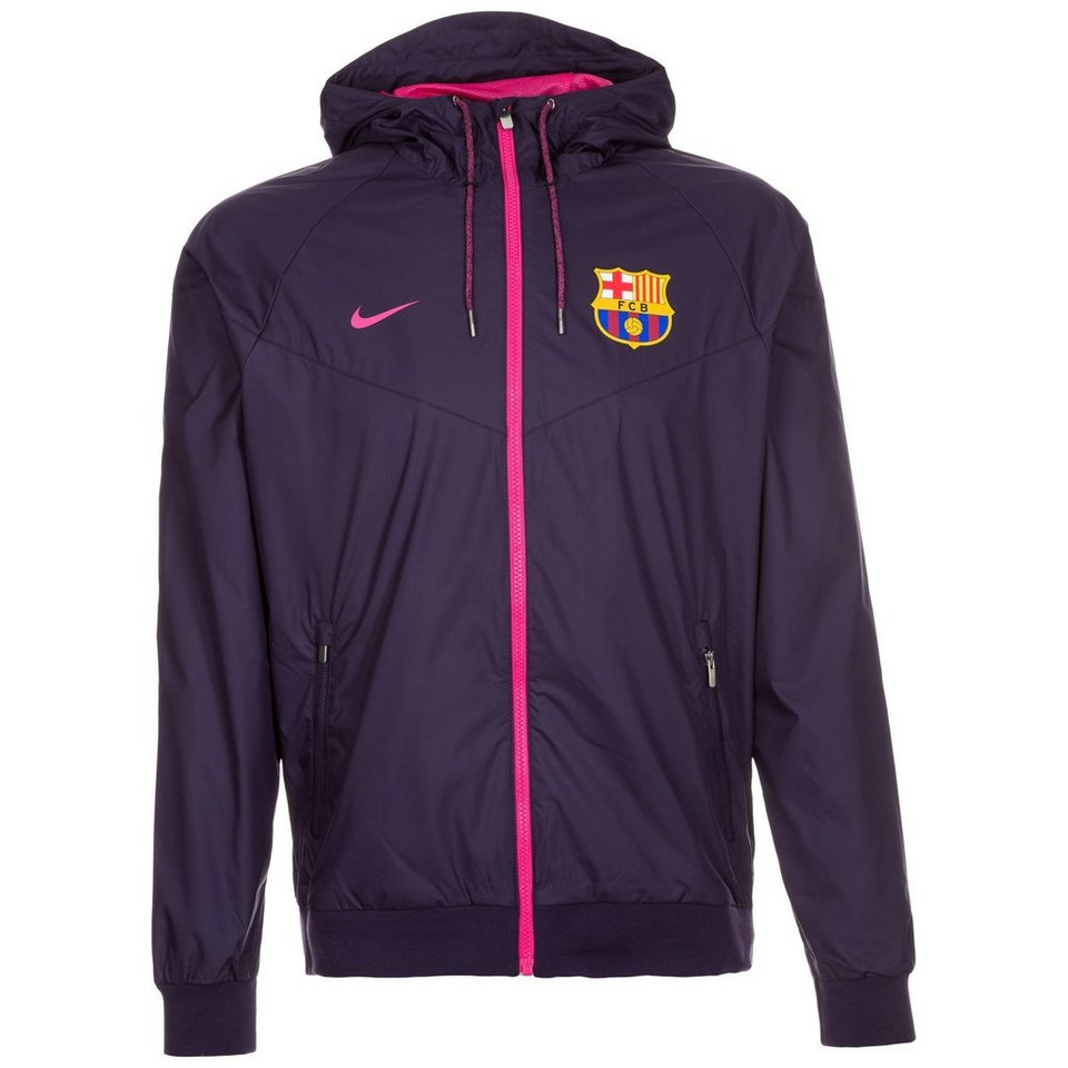 NIKE FC Barcelona Windrunner Kapuzenjacke Herren in lila / pink