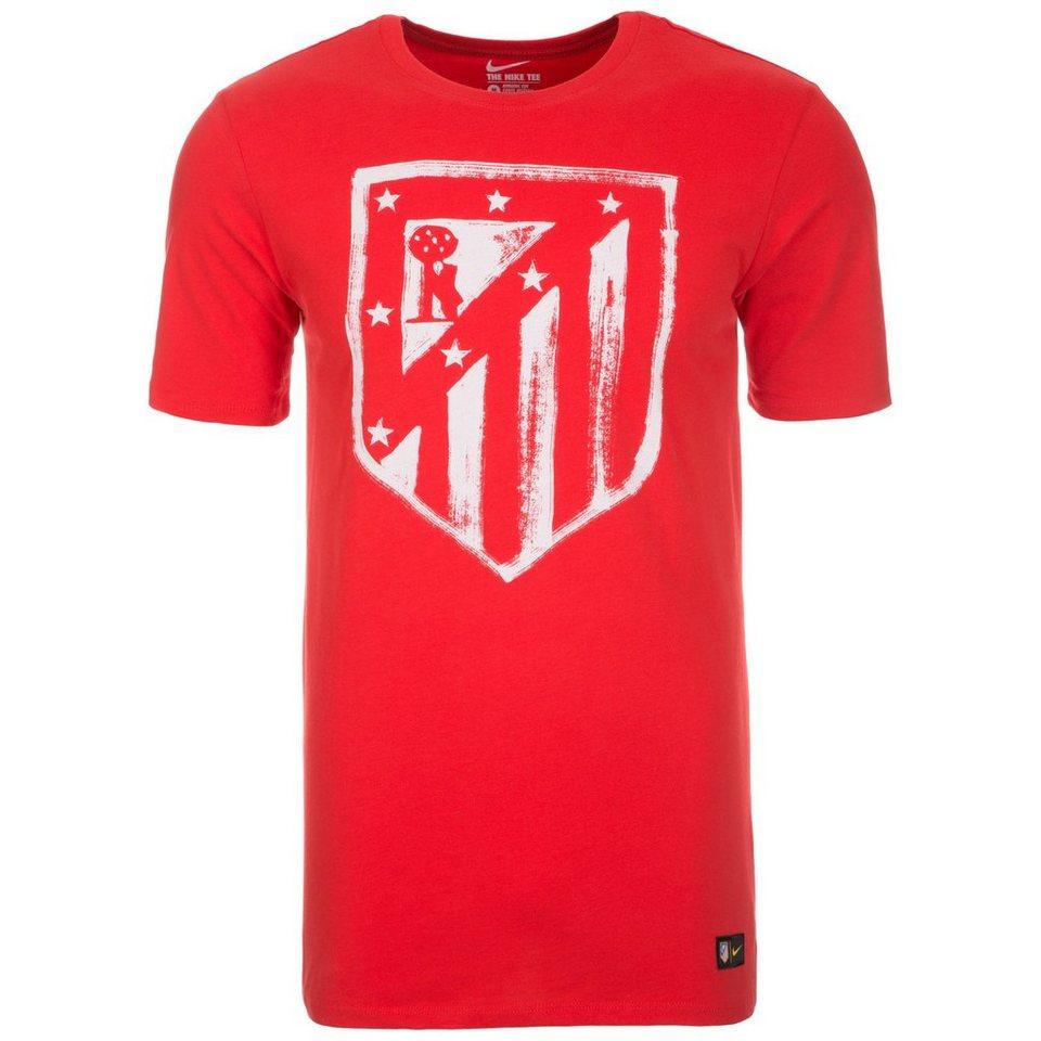NIKE Atletico Madrid Crest T-Shirt Herren in rot / weiß