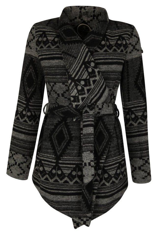 DREIMASTER Mantel in schwarz grau
